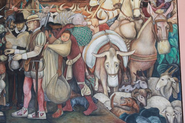 Mexico city and victor manuel edventure project for Diego rivera first mural